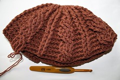 Cable hat - half way