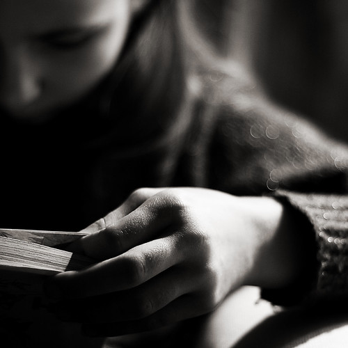 Lost in her words...