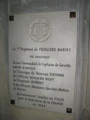 Italie- Rome- Plaque à la mémoire des Morts pour la France du RFM- Eglise Saint Louis des Français CP : Etienne JacheetIMG_9291