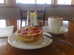 pie and cap at the tuckerbox dog