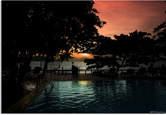 Sunset by the pool . . photo by grantthai