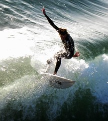 Flying high at Pacific Beach, Surfing's Best San Diego, photo by moonjazz