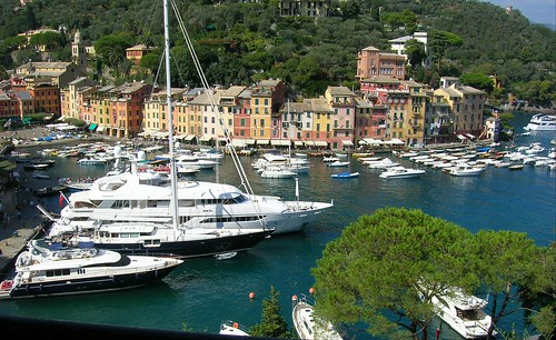 Looking Down at Sweet Pea, Portofino