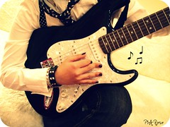 """Guitar playing is a release, liberation, but simply it is freedom."" photo by pinkyia™"