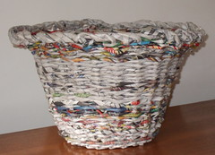 Newspaper Basket photo by Peggy Dembicer