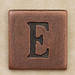 Copper Square Letter E