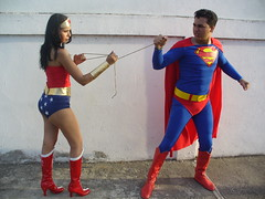 wonder woman v.s. superman photo by chande legion