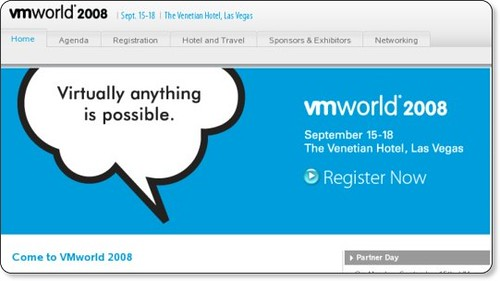 Virtualization Conference Labs, Sessions, Solution Exchange - VMware