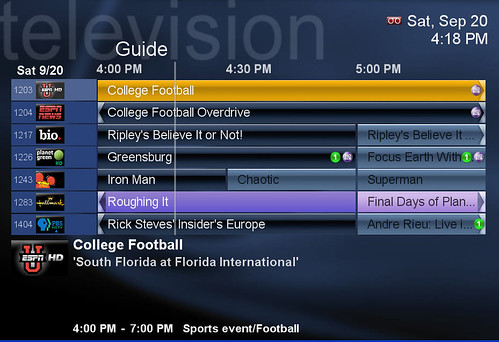SageTV Program Guide