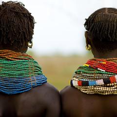 Nyangatom necklaces Ethiopia photo by Eric Lafforgue