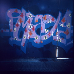 Amsterdam graffiti ala Velvia photo by kevin dooley