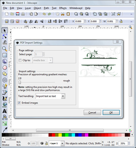Inkscape AI PDF Import