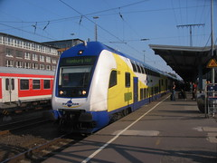 Metronom double deck train at Bremen Hauptbahnhof