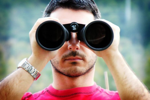 Binoculars Searching for a Property Manager
