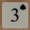 Playing Card Tile 3 of Spades