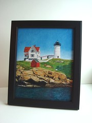 Nubble Lighthouse Framed Print photo by Allover Art
