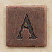 Copper Square Letter A