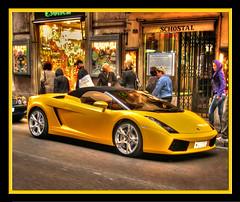 Yellow Lamborghini in Rome photo by Mike G. K.