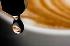 Latte Art in Drip photo by -sanch-