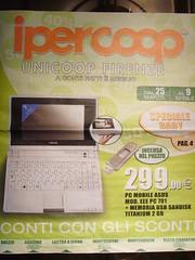 Il Volantino dell'IperCoop e l'eeePC