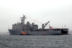 Navy Ship and Tug
