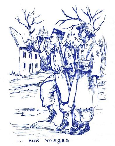 Illustration- De l'Afrique aux Vosges - 2-  par Jean COQUIL (capitaine au B.M.5)
