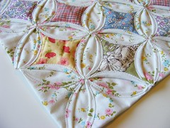 Cathedral Window Doll Quilt for quilt swap 4