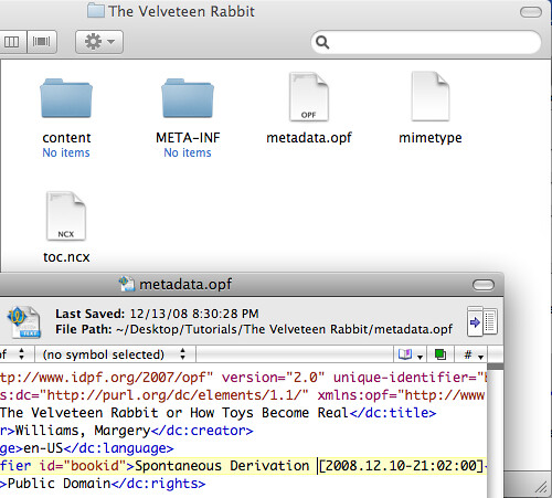 Velveteen Rabbit - Basic metadata.opf