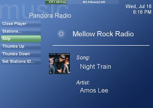 SageTV's Pandora Radio Plugin