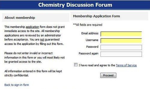 Register at Chemistry Discussion Forum