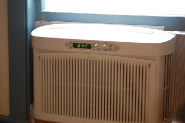 air-conditioning. Control of temperature, humidity, purity, and motion of air in an enclosed space, independent of outside conditions. In a self-contained air