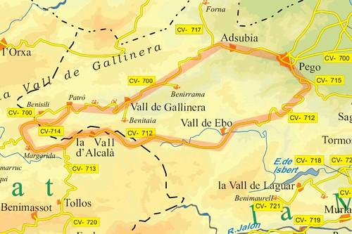 Valls de Gallinera, Alcalà y Ebo