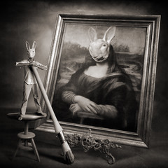 Mad Bunny is an original painter photo by yves.lecoq