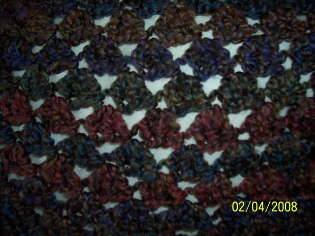 Free Crochet Pattern 40417-C Ribbon Poncho : Lion Brand Yarn Company