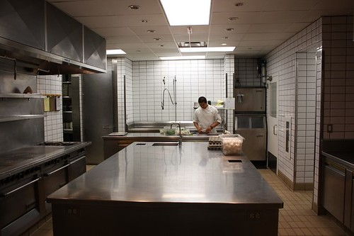 Another shot of the separate kitchen used when large parties are dining so as to not interrupt the service of the smaller groups