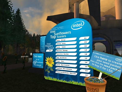 Intel Sunflower Leaderboard