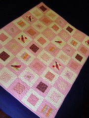 Pink Squares in Squares Baby Quilt photo by alissahcarlton