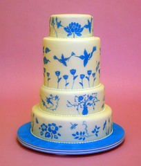 Blue Painted Cake photo by dahliascakes