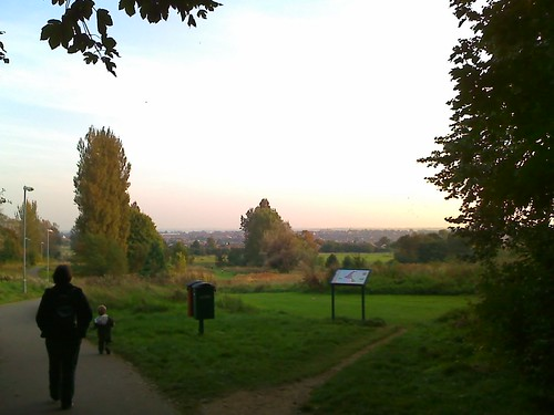 Bradlaugh Fields, Northampton at Dusk.