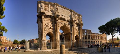 Arco di Constantino y Coliseo, Roma (I)