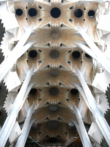 Ceiling of the Sagrada Familia