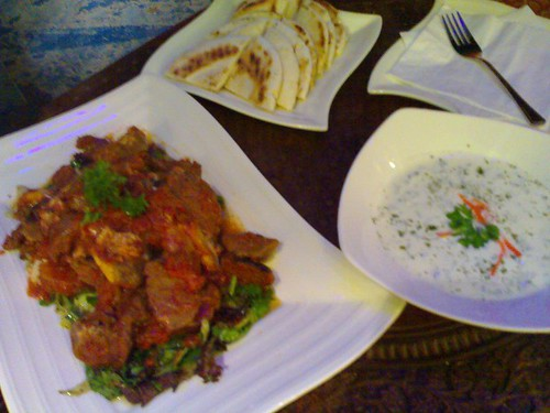 From left: Tagine Koft Tamaghdour and Labneh