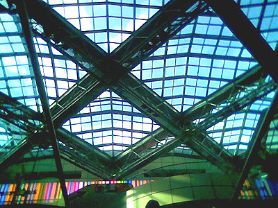 Rooftop ceilings inside the Suntec City mall