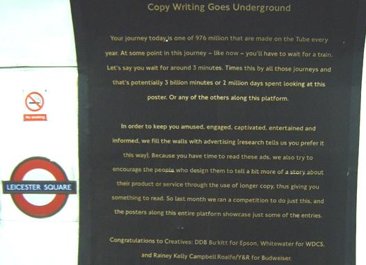 Copywriting Goes Underground