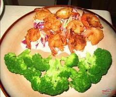 Caribbean Shrimp and Broccoli Slaw