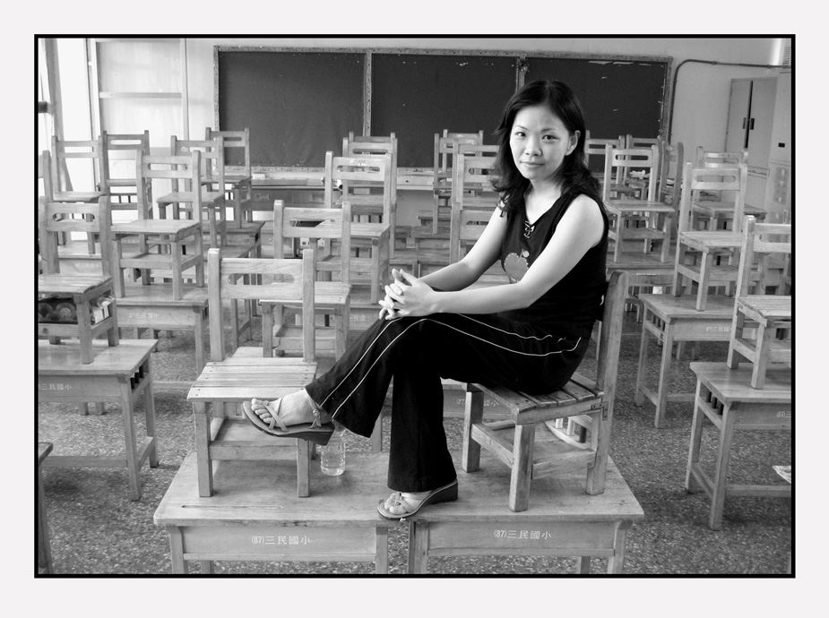 Teacher Su in Kaoshung, her hometown in 2005