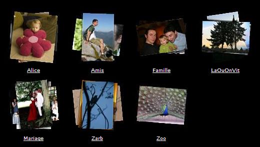 Photo album folders