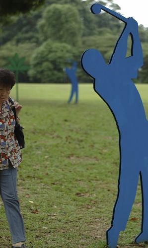 blue golfer