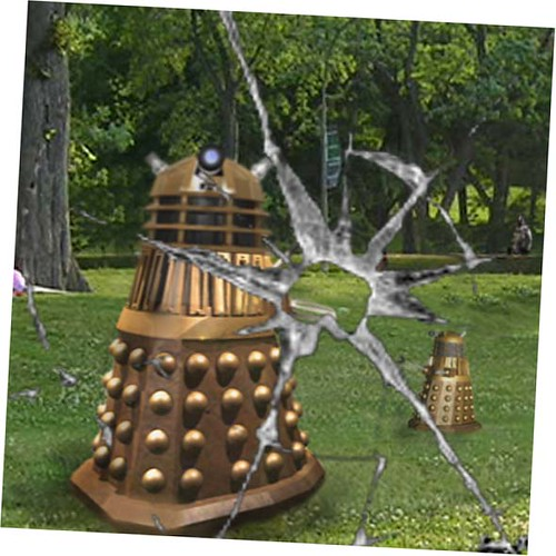 Dalek in park with boy 5