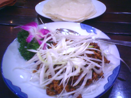 Shredded Pork with Popiah and Special Sauce